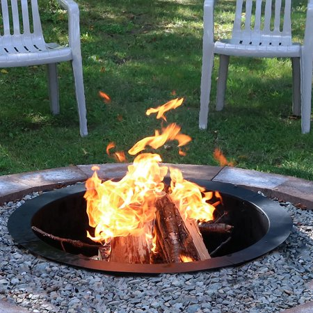 Sunnydaze Fire Pit Ring Liner Heavy Duty Diy Above Or In Ground