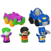 Fisher-Price Little People DC Super Friends Crime Fighting Vehicles Gift Set
