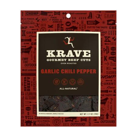 Low Fat Turkey Jerky (Krave, Beef Jerky Garlic Chili Pepper, 2.7 Oz)