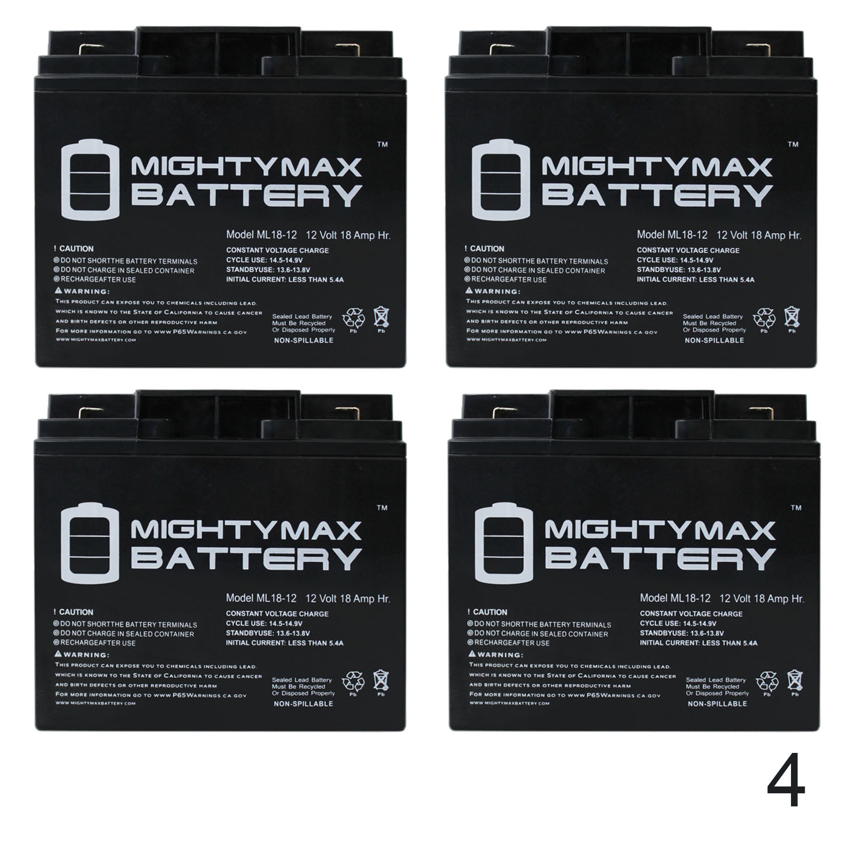 12 Volt 18 AH Rechargeable Sealed Lead Acid Battery by SigmasTek 1 Pack