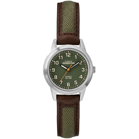 Women's Expedition Field Mini Brown/Green Watch, Nylon/Leather Strap ()