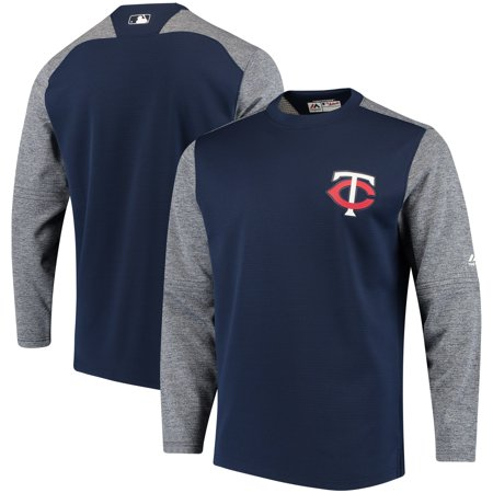 Minnesota Twins Majestic Authentic Collection On-Field Tech Fleece Pullover Sweatshirt - Navy