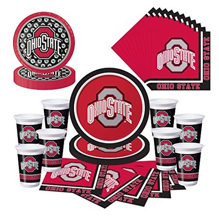 Ohio State Buckeyes OSU Party Pack - Plates, Cups, Napkins - Ohio State University Halloween Party