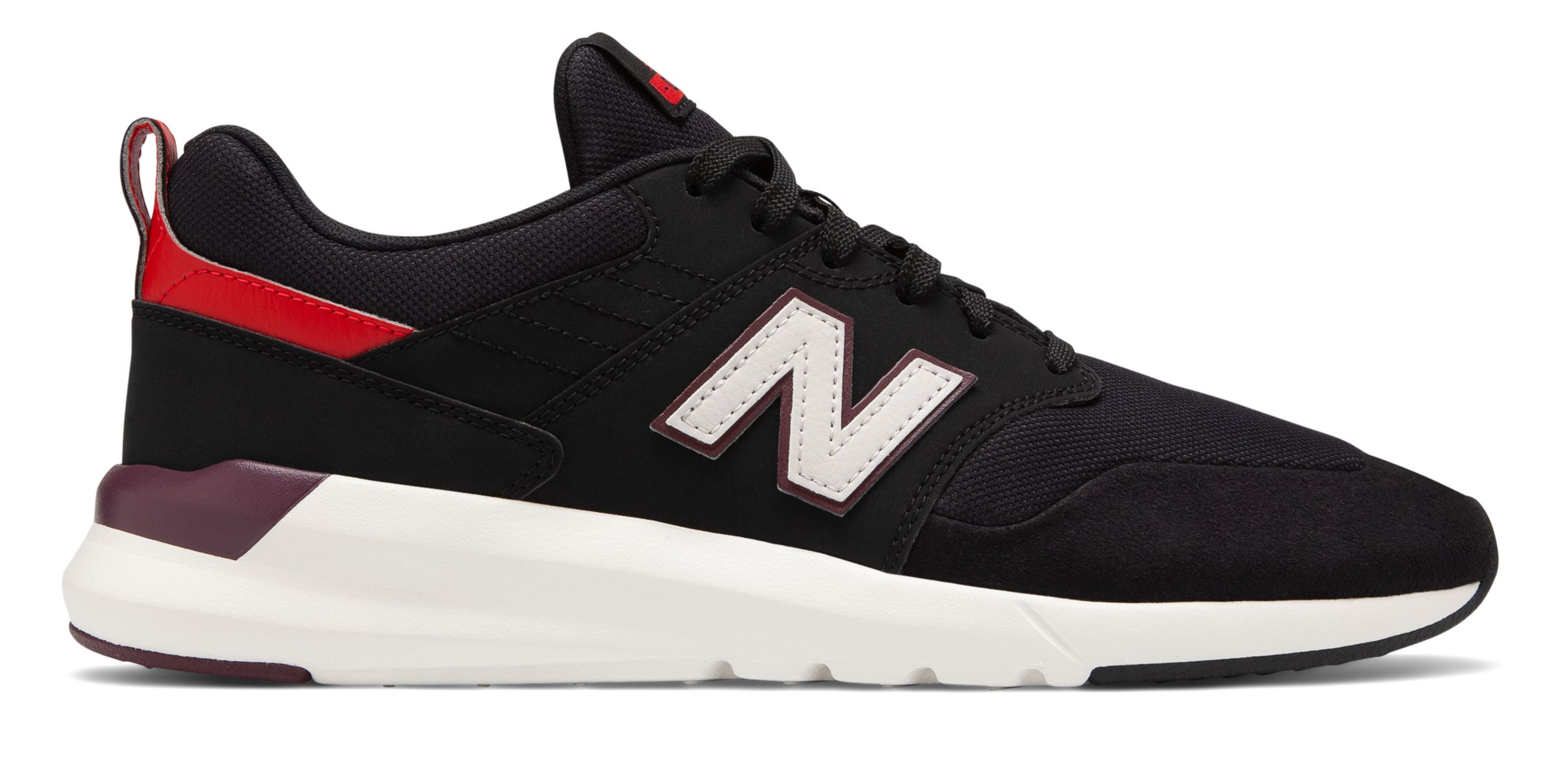 Balance Men's 009 Shoes Black with Red