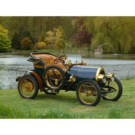 1913 Bugatti Type 13 Open 2-seat tonneau 13 litre Country of origin France Poster Print