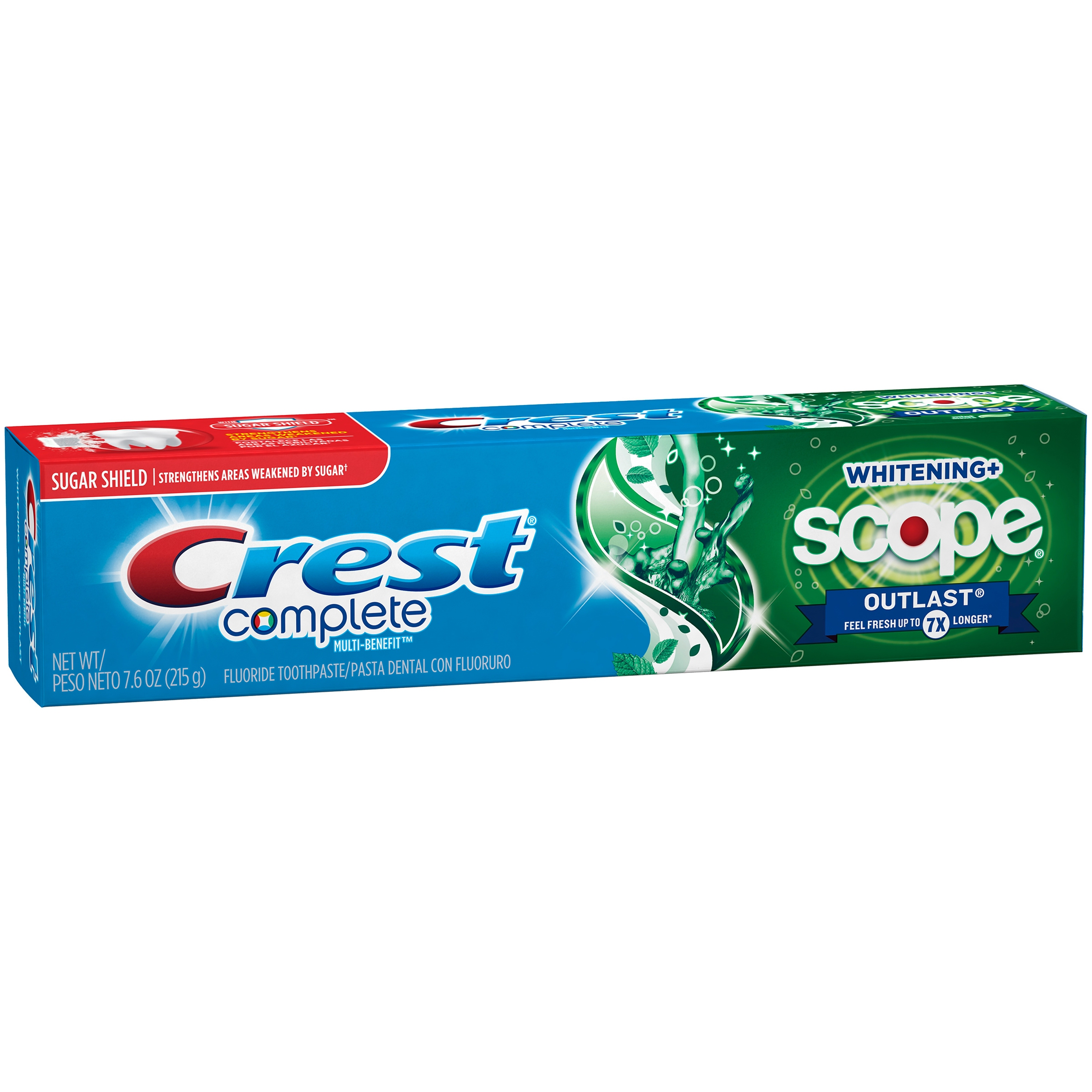 Crest Complete Whitening + Scope Outlast Mint Toothpaste, 7.6 Oz