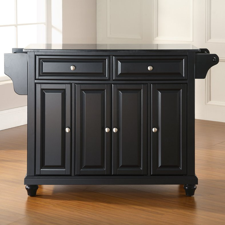 black granite kitchen island crosley furniture cambridge solid black granite top 16421