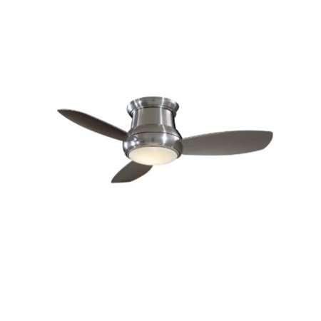 "minka-aire f519-bn, concept ii, 52"" ceiling fan, brushed nickel"