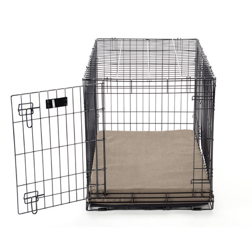Buddy Beds Luxury Memory Foam Dog Crate Pad with Suede Microfiber Cover
