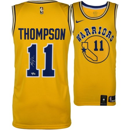 brand new f8cea 8f75d Klay Thompson Golden State Warriors Autographed Gold Hardwood Classic  Swingman Jersey - Fanatics Authentic Certified