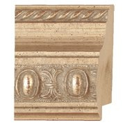 "Picture Frame Moulding (Wood) - Traditional Silver Finish - 2.5"" width - 3/4"" rabbet depth"