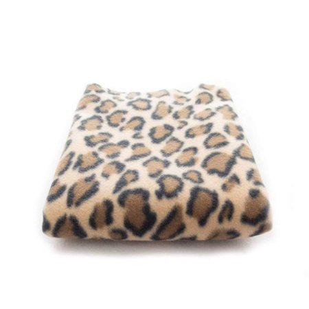 "lovemyfabric 58""X70"" Super Soft Leopard Brown Print Fleece Light Weight Blanket Couch/Sofa/Travel Throw"