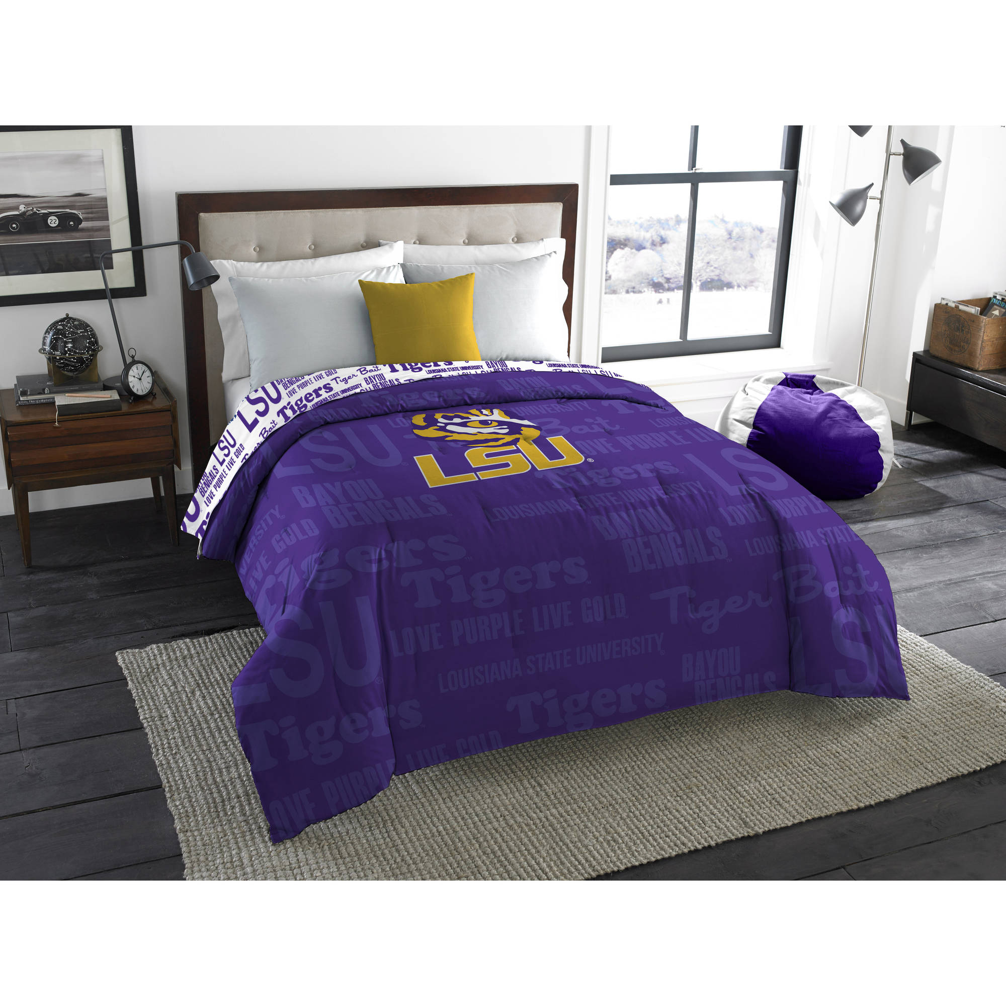 "NCAA Louisiana State Tigers ""Anthem"" Twin or Full Bedding Comforter, 1 Each"