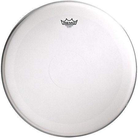 Remo Powerstroke 4 Coated Batter Drum Head with Clear Dot 15 in.