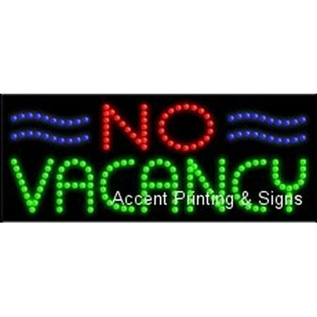 Vacancy Led (No Vacancy LED Sign (High Impact, Energy)