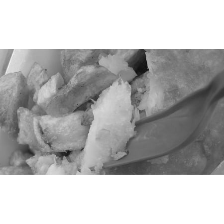 LAMINATED POSTER Food Lunch White Fish Meal Snack Black Chips Poster Print 24 x 36 - Black And White Snacks