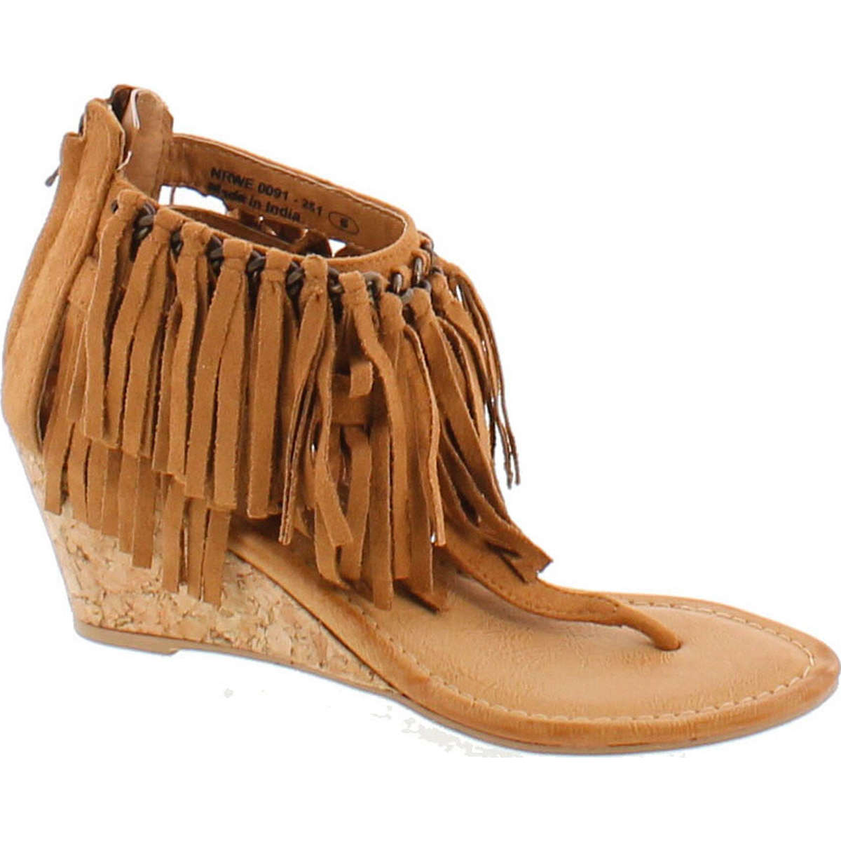 Not Rated Womens Sybil Fringe Wedge Sandal