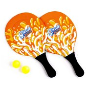 Sunlite Sports Beach Paddle Game Set, 2 Paddles and 2 2 Balls, Perfect for Backyard Fun or Outdoor or Beach or Lawn - Orange