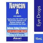 Naphcon A Antihistamine Eye Drops for Eye Allergy Relief, 15 mL