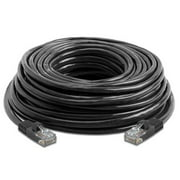 Importer520 Ethernet Cable, 100Ft 100FT 100 Feet Foot CAT5 CAT5e RJ45 PATCH ETHERNET NETWORK CABLE For PC, Mac, Laptop, PS2, PS3, XBox, and XBox 360 DSL or Cable internet - Black