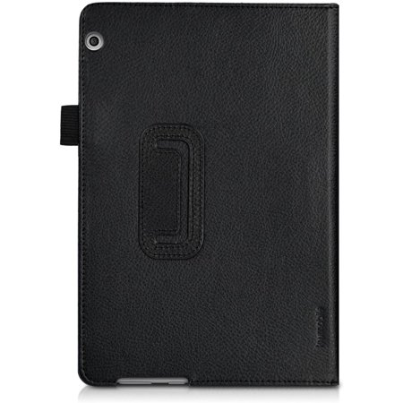 kwmobile Case Compatible with Huawei MediaPad T3 10 - Slim PU Leather Tablet Cover with Stand Feature - Black - image 3 de 5