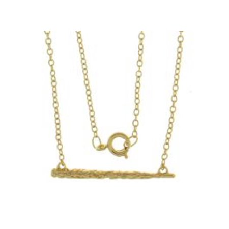 Harry Potter Brass Yellow Plated Wand Necklace
