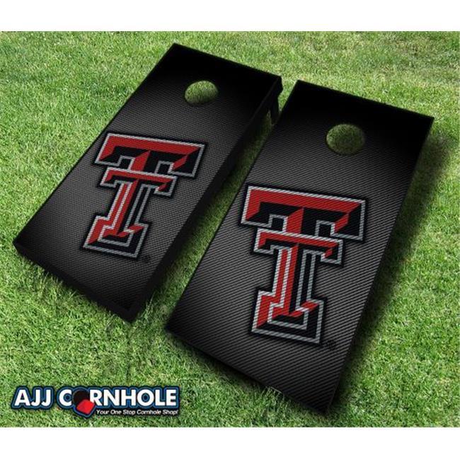 AJJCornhole 110-TexasTechSlanted Texas Tech Red Raiders Slanted Theme Cornhole Set with... by AJJCornhole