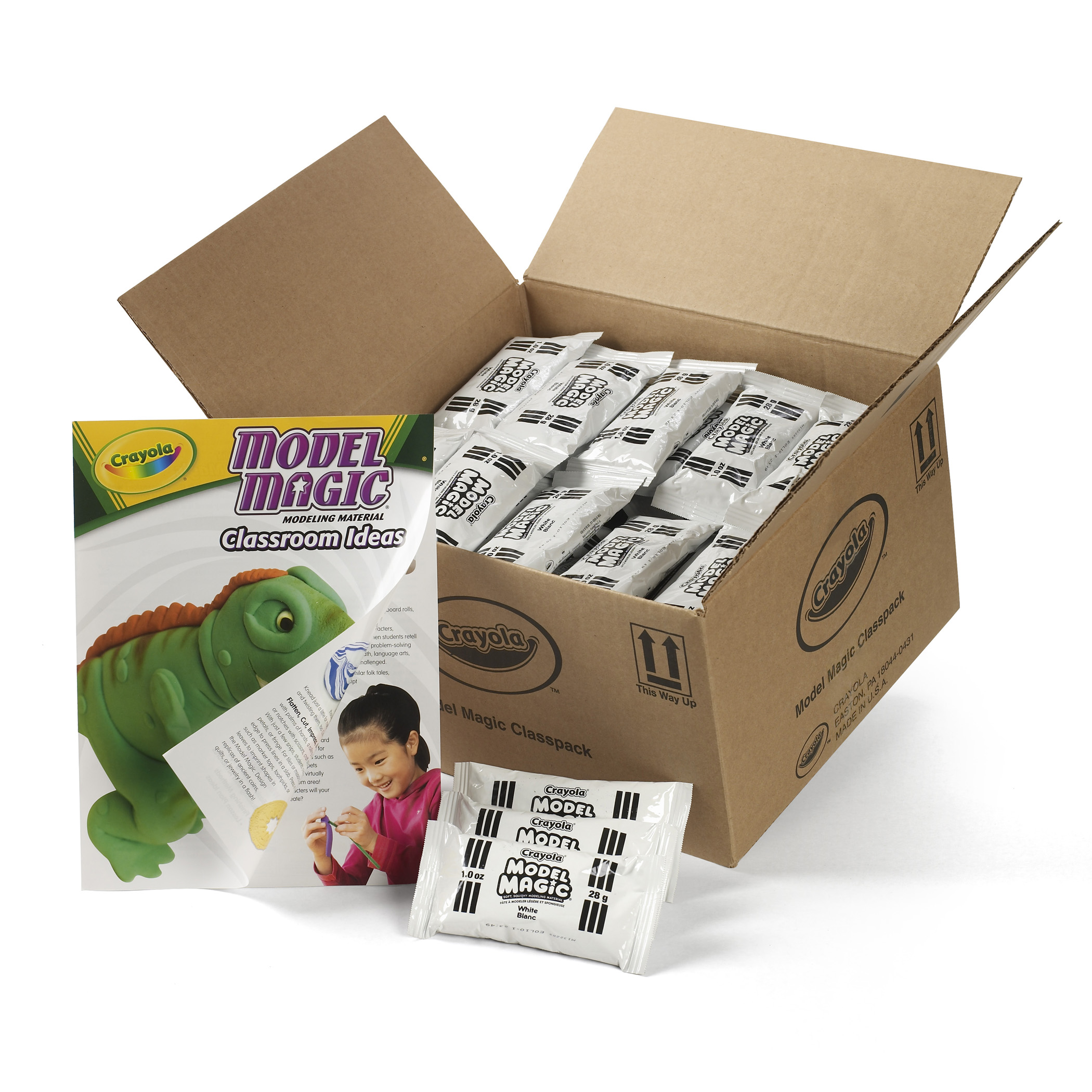 Crayola® Model Magic Modeling Dough Classpack, White, Pack of 75