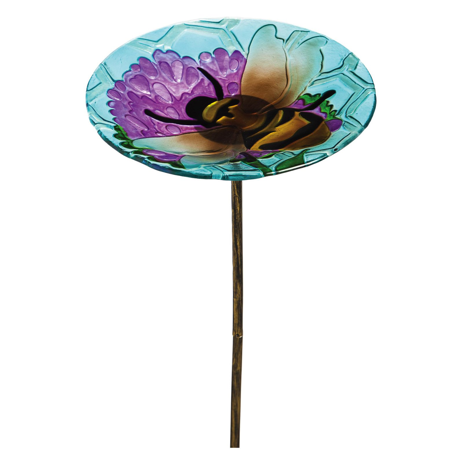 Evergreen Enterprises Busy Bee Days 10 in. Birdbath with Stake by Evergreen Enterprises, Inc.
