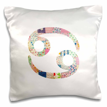 (3dRose Cancer symbol colorful girly design - Cancerian horoscope zodiac sign - Pillow Case, 16 by 16-inch)