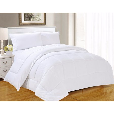 Safari Twin Duvet Set (2-PC 899 Twin White Down Alternative Comforter Set, 100% EGYTION COTTON DUVET INSERT for All Season with Pillow Shams )