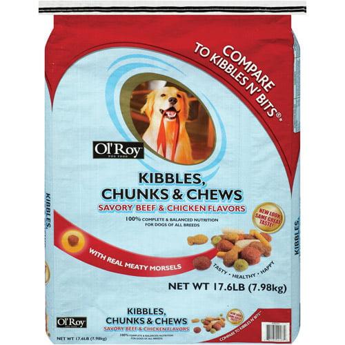 Ol' Roy Kibbles, Chunks & Chews Savory Beef & Chicken Flavors Dog Food, 17.6 lb