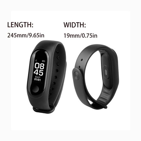 Fitness Tracker HR, Activity Tracker Watch with Heart Rate Monitor, Pedometer IP68 Waterproof Sleep Monitor Step Counter for Women Men - image 3 of 6
