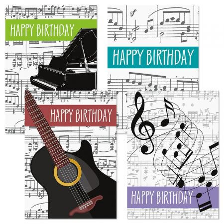 Music Birthday Cards