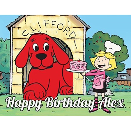 1 4 Sheet Clifford The Big Red Dog Edible Frosting Cake Topper 74150