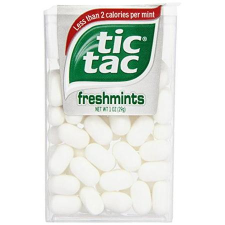 Tic Tac Mints, Freshmints Singles, 1 oz. (Pack of 12) (Blue Tic Tacs)