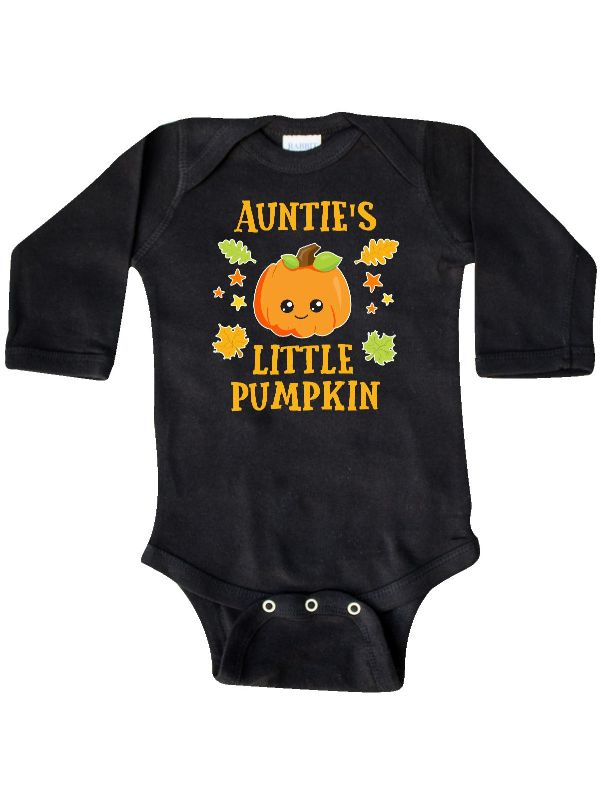 inktastic Great Aunties Little Pumpkin with Leaves and Stars Long Sleeve Creeper