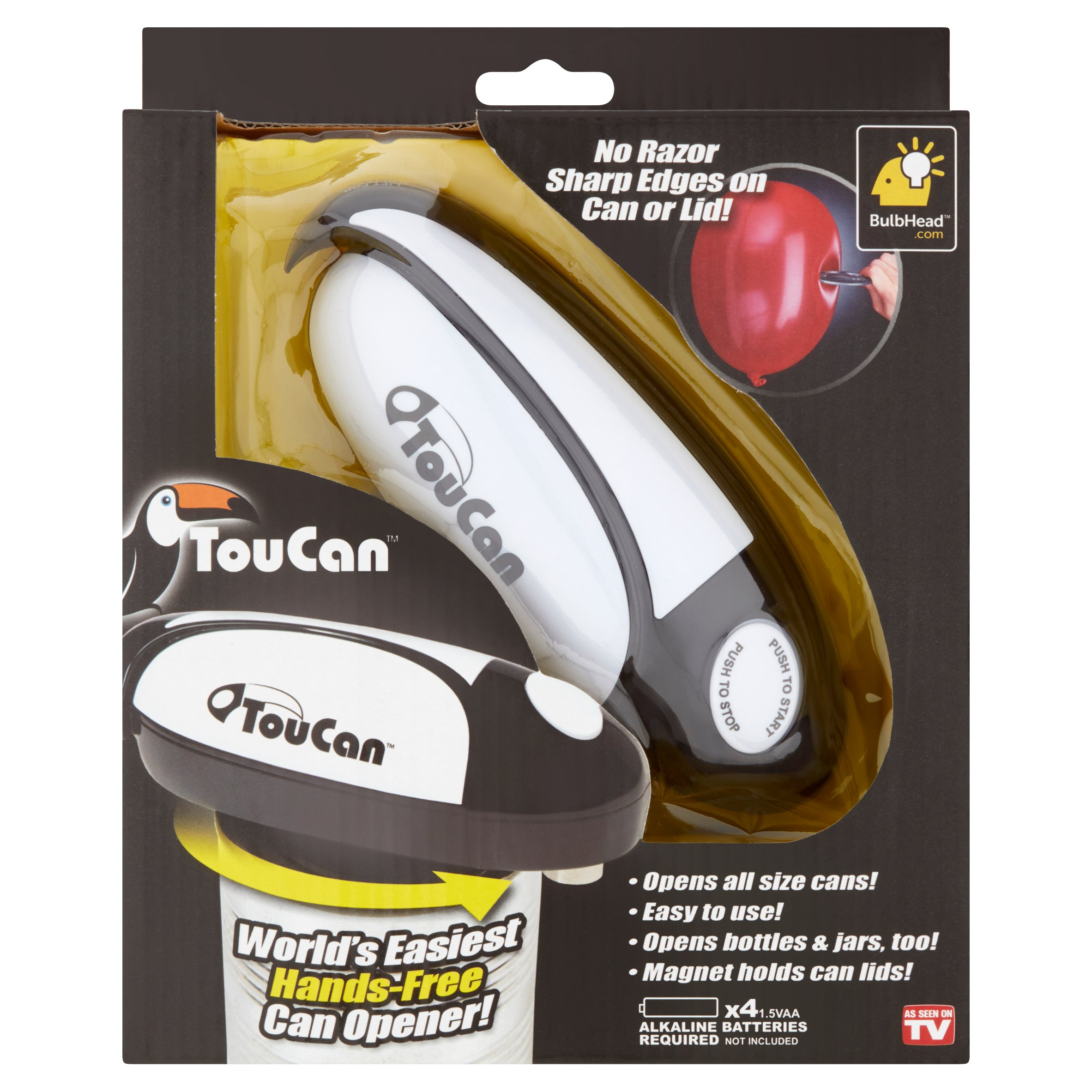 Toucan World's Easiest Hands-Free Can Opener! by Telebrands