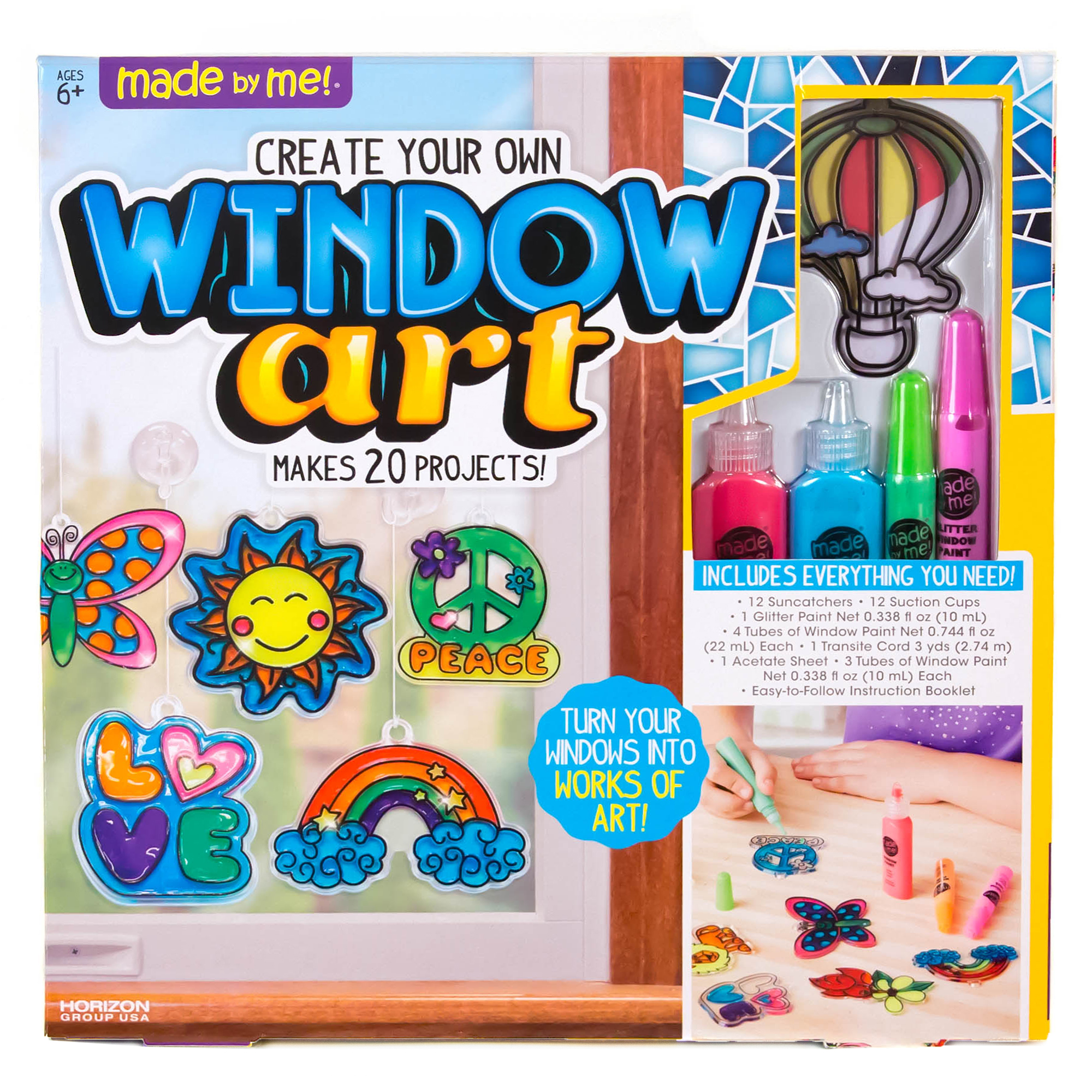 Made by Me Window Art Activity Kit by Horizon Group USA
