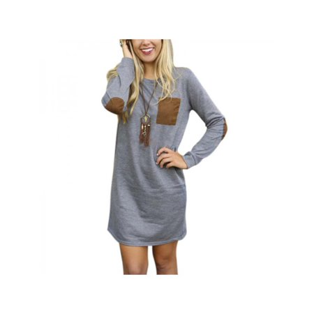 Big Savings/Clearance,Nicesee Women Elbow Patch Long Sleeve Crewneck T Shirt - Express Dresses Sale