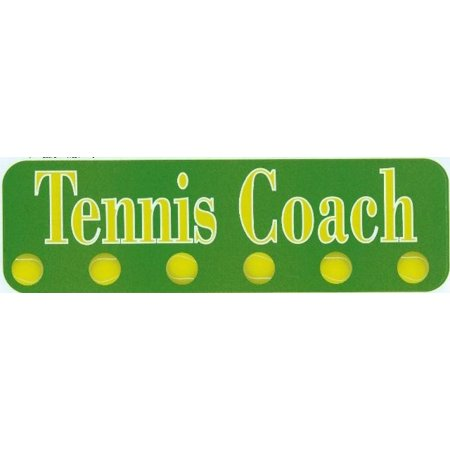 10in x 3in tennis coach vinyl bumper sticker decal car window stickers decals
