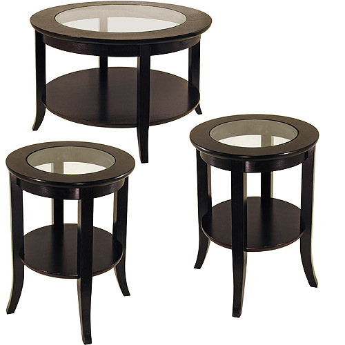 Genoa 3 Piece CoffeeEnd Tables Value Bundle EspressoWalmartcom
