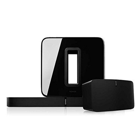 Sonos Multi-Room Digital Music Set with PLAY:5, PLAYBASE, and SUB (Black)