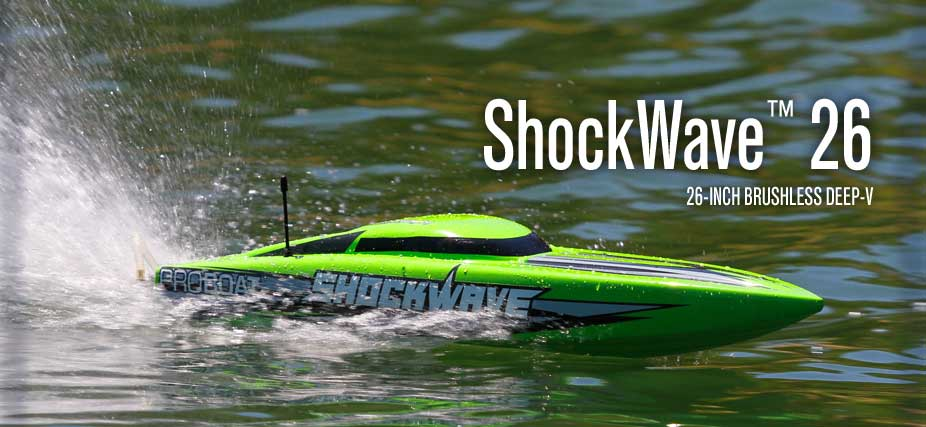 Pro Boat 08014 Shockwave 26-inch Brushless Deep-V RTR by Pro Boat