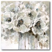 "Courtside Market Black & White Flower 16""x16"" Gallery-Wrapped Canvas Wall Art"