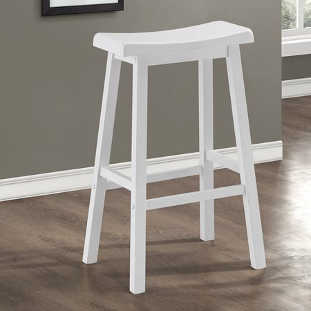 Monarch 29u0022 White Saddle Barstool (2 pack)