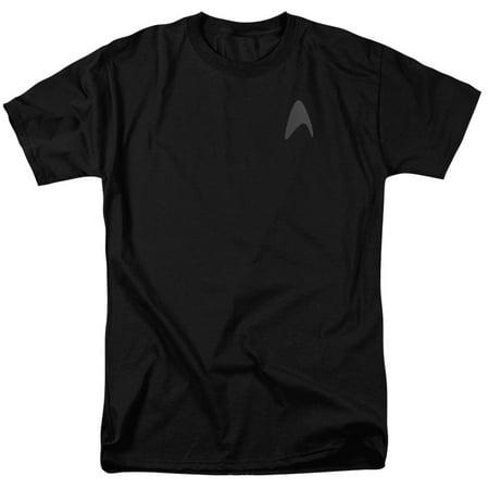 STAR TREK/DARKNESS COMMAND LOGO-S/S ADULT 18/1 - BLACK - 4X