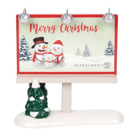 Department 56 Village Merry Christmas Billboard Accessory Figurine 6003178 New ()