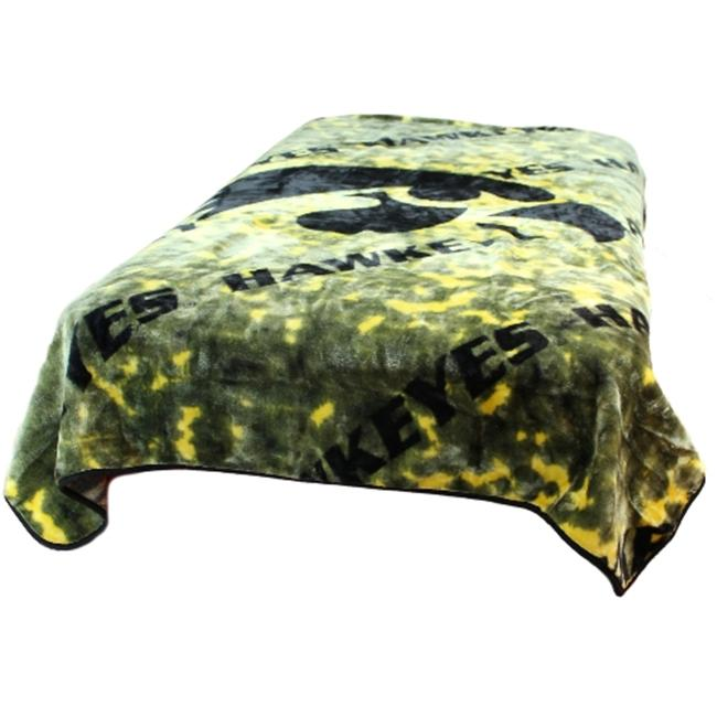 College Covers IOWTH Iowa Throw Blanket- Bedspread