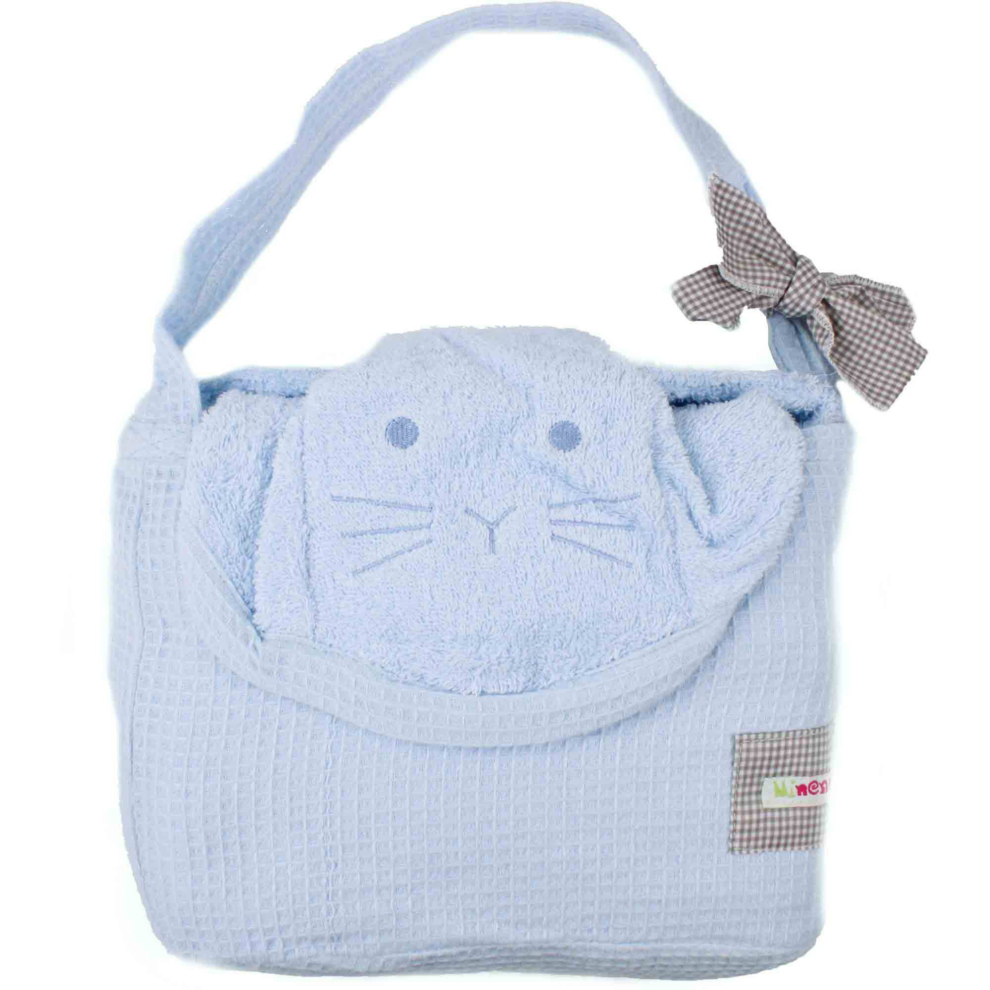 Minene Cuddly Towel, Light Blue Dog